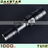 DAKSTAR TU12 XM-L U2 1000LM 18650 CREE LED Rechargeable Side Switch Stepless Diming Aluminum Police Security Gun Mount Flashligh