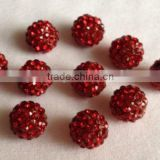 High Quality Beads Customized Beads With Rhinestone Shamballa Czech Crystal Pave Spacer Charms