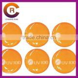 Small MOQ brand name gel Self-Adhesive 3-D clear make custom crystal plastic window sticker