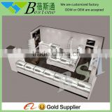easy assembly pure white MDF painting finish watch display cabinets kiosk
