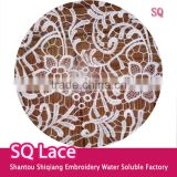 Lace fabric milk silk full lace embroider lace for garment accessory