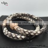 100% Real Stingray/Python Leather Bracelet Custom Logo Factory Cheap Prices Men Bracelet