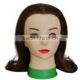 cheap wholesale makyeup training head fiberglass mannequin head with remy human hair