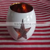 wholesale white candle jars with star logo 2016
