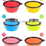 Pets Silicone Food & Water Travel Bowl with Clip for Dog and Cat, Small(1.5 Cups), Aqua
