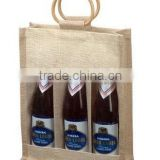 Three Bottle canvas wine bag