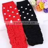 boutique red and black polkdot baby leg warmers for party wholesale in stock LW-6