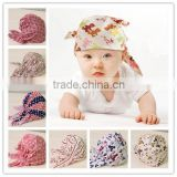 New style fashion wholesale pirate baby hat Stylish baby essential ,baby pirate hat ,knotted cap ,scarf hat