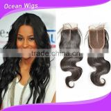 lace closure brazilian body wave/loose wave