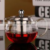 Modern Infuser Teapot 600ml 800ml With Filter Heat Resistant Glass cup Tea Pot dinner set 2016 hot sale
