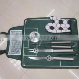 5 pcs football BBQ set with nylon bag