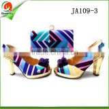 china wholesale italian shoes and bag set african wax style purses handbags matching sandals shoe