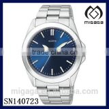 fashion deep blue dial men's quartz watch stainless steel with day and date*day date men's quartz watch