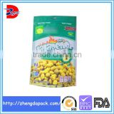 stand up zipper bag plastic packaging bags for dry baking beans