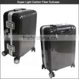 NEW ARRIVAL 20 inch super light weight than aluminum suitcase , carbon fiber suitcase sets with spinner Wheels