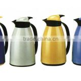 plastic casing, Coffee pot with easy pouring buttom, vacuum glass liner, excellent handle for comfortable using