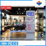 Fast Charge Floor Standing Card Reader Cell Phone Charging kiosk locker cell phone charging station APC-06B