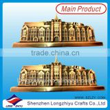 Metal personalized door nameplate,custom logo 3D house building badge label plates manufacturer in China