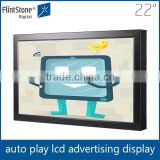22 inch IR touch screen panel kit, touch LCD kiosk horizontal, programmable AD HD screen LCD display