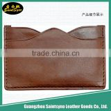 Ultra slim fashion credit leather name card holder,Embossed Leather Business Card Holder