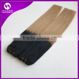 Wholesale Straight Hair Two Tone T1B/22 Cheap Ombre Human Hair Extension Brazilian Ombre Human Hair
