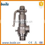 Direct type safety thermal relief valve with leaking structure