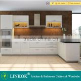 white gloss laminated cream pvc mdf kitchen cabinet doors                                                                         Quality Choice