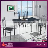 1202-17B Modern black dinning room tables and chairs