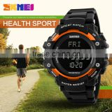 Fashion fitness plastic body fit heart rate monitor watch with black lcd display