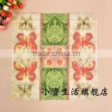 Butterfly Pattern 100% virgin wood pulp Food-grade Printed Tissue Paper Napkin for the Restaurant Decoration