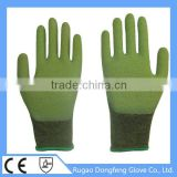 Wholesale Seamless Knitted Comfortable & Breathable Non Slip Grip Latex Palm Coated Bamboo Fiber Safety Gloves For Working