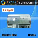 Stainless steel food warmer - one layer hot food thermal display warmer (SUNRRY SY-WD2B)