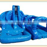 giant adult size inflatable water slide with swimming pool inflatable slip n slide aqua park equipment
