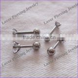 With Zircon Top Stainless Steel Cartilage Ear Tragus Barbell Ring Body Piercing Jewelry [ET-104]