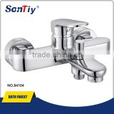 Classic Wide Outlet Gold Double Handles bath mixer