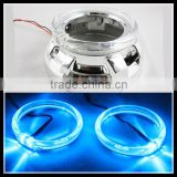 new guiding light technology 100mm 3 inch 12v 5w blue color xenon kits led angel eyes car head lamp drl led halo rings