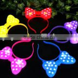 cute advertising glow led hairpin head hoop LED flashing glow hairband