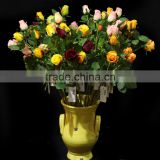 2016 new style artificial flower rose bud wedding decoration with three heads