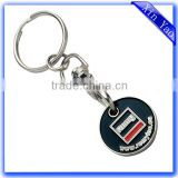 Wholesale customized enamel trolley coin keychain                                                                         Quality Choice