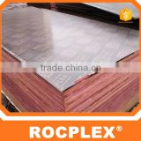 9mm twice hot press container plywood flooring,cheapest price recycle used finger joint core film faced plywood
