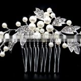 Fashion Wedding Bridal Bride Rhinestone Pearl Hair Comb Accessories Jewelry Head Piece Hair Pins 2016