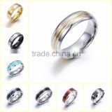 2016 Latest fashion simple design men and women stainless steel silver plated rings
