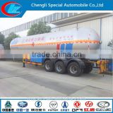 China exported 55000L lpg gas tank trailers for sale Q345R LPG Transport Tanker ISO 56CM3 LPG Tanker Pressure Vessel AFRICAN