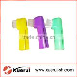 plastic Pet finger toothbrush with good quality