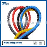 flexible protective spiral wrap /Colorful Spiral Hydraulic Hose Protection with Flat Surface