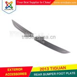 2013 VW TIGUAN REAR BUMPER FOOT PLATE STAINLESS STEEL ACCESSORIES VW TIGUAN