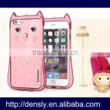 Beautiful mobile phone back cover case for iPhone 5 5s, cartoon cat tpu mobile phone case for iphone 5