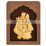 3D car furnishing article about Indian God made by pure gold foil