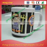 Personalized plastic 3d soft pvc rubber mug for kids