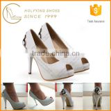 OEM ODM beautiful girls shoes ivory wedding sandals